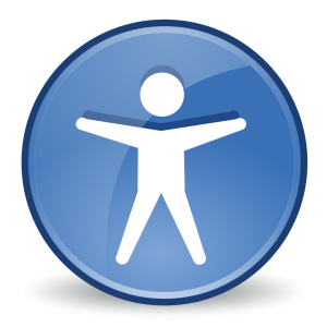 Accessibility icon of person